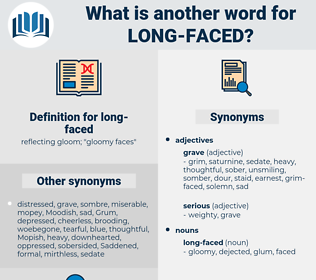 long faced, synonym long faced, another word for long faced, words like long faced, thesaurus long faced