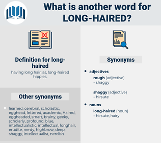 long-haired, synonym long-haired, another word for long-haired, words like long-haired, thesaurus long-haired
