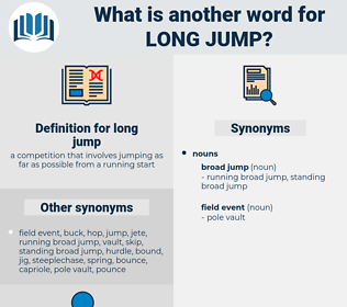 long jump, synonym long jump, another word for long jump, words like long jump, thesaurus long jump