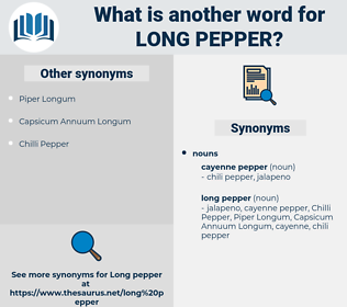 long pepper, synonym long pepper, another word for long pepper, words like long pepper, thesaurus long pepper