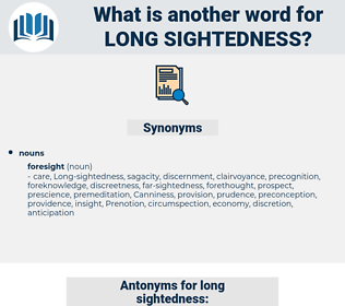 Long-sightedness, synonym Long-sightedness, another word for Long-sightedness, words like Long-sightedness, thesaurus Long-sightedness