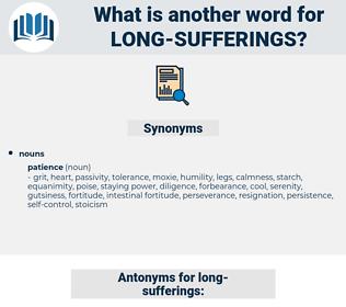 long-sufferings, synonym long-sufferings, another word for long-sufferings, words like long-sufferings, thesaurus long-sufferings