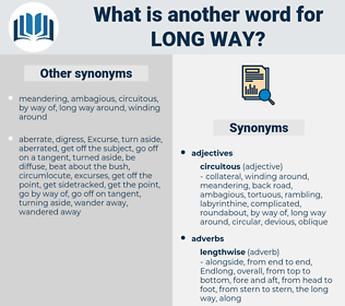 long way, synonym long way, another word for long way, words like long way, thesaurus long way