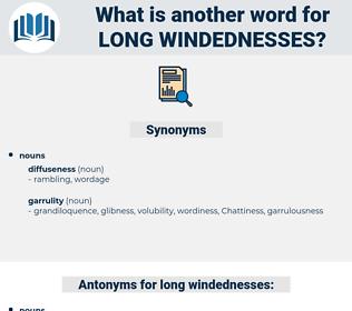 long windednesses, synonym long windednesses, another word for long windednesses, words like long windednesses, thesaurus long windednesses
