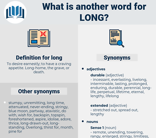 long, synonym long, another word for long, words like long, thesaurus long