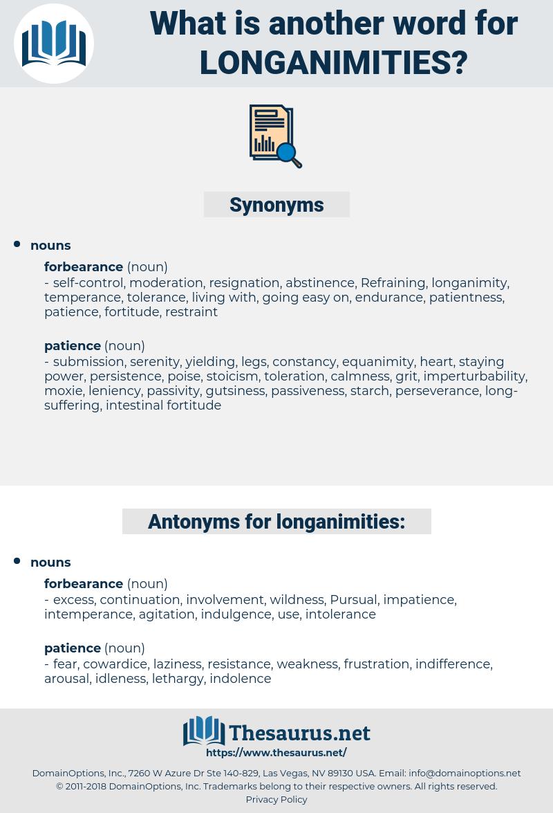 longanimities, synonym longanimities, another word for longanimities, words like longanimities, thesaurus longanimities