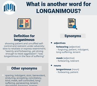 longanimous, synonym longanimous, another word for longanimous, words like longanimous, thesaurus longanimous