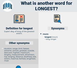 longest, synonym longest, another word for longest, words like longest, thesaurus longest