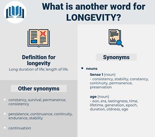 longevity, synonym longevity, another word for longevity, words like longevity, thesaurus longevity
