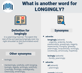 longingly, synonym longingly, another word for longingly, words like longingly, thesaurus longingly