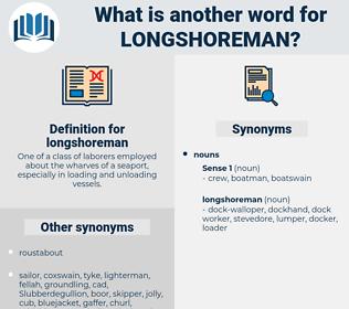 longshoreman, synonym longshoreman, another word for longshoreman, words like longshoreman, thesaurus longshoreman