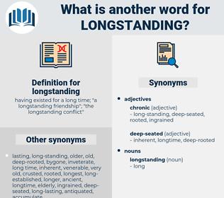 longstanding, synonym longstanding, another word for longstanding, words like longstanding, thesaurus longstanding