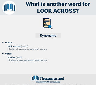 look across, synonym look across, another word for look across, words like look across, thesaurus look across