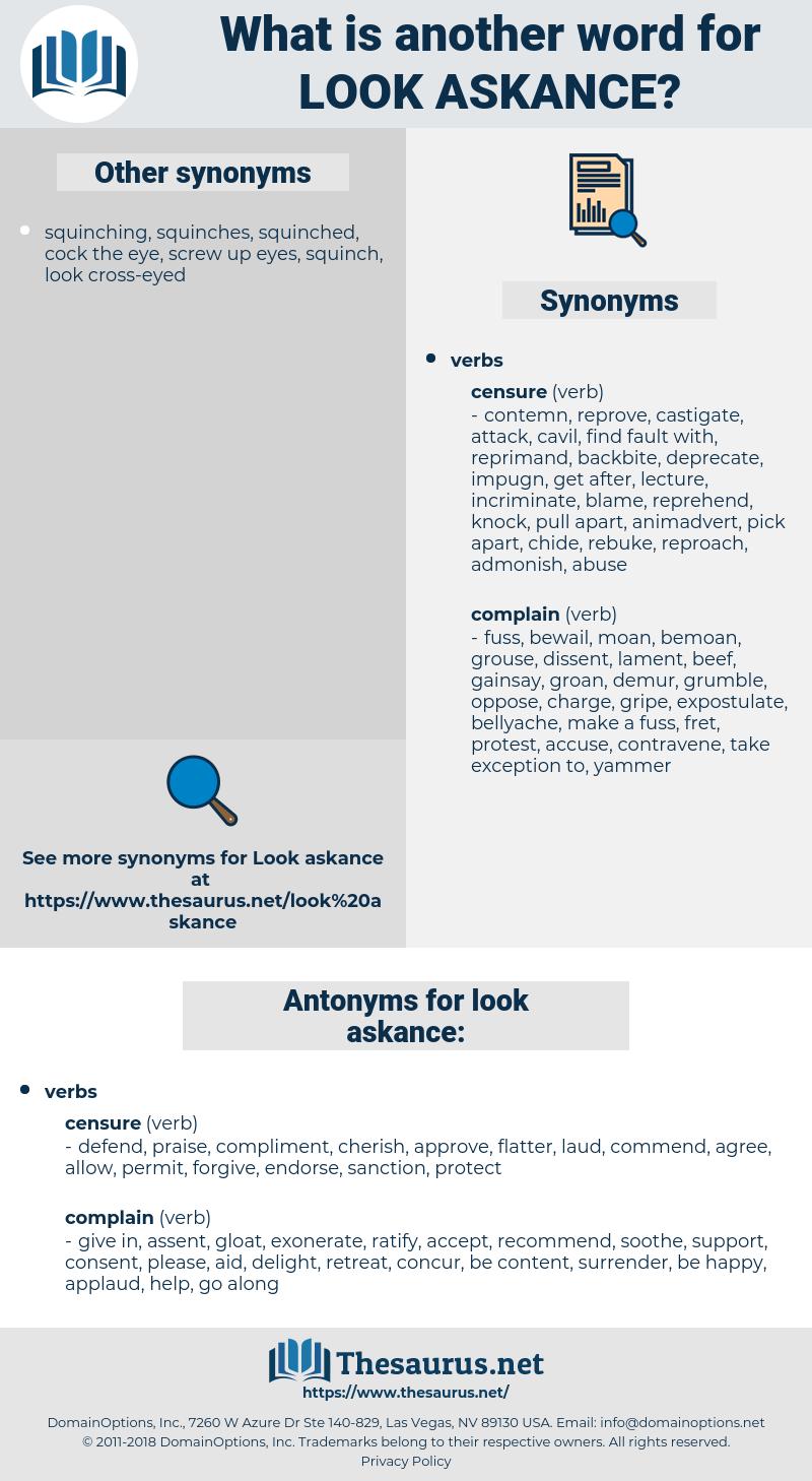 look askance, synonym look askance, another word for look askance, words like look askance, thesaurus look askance