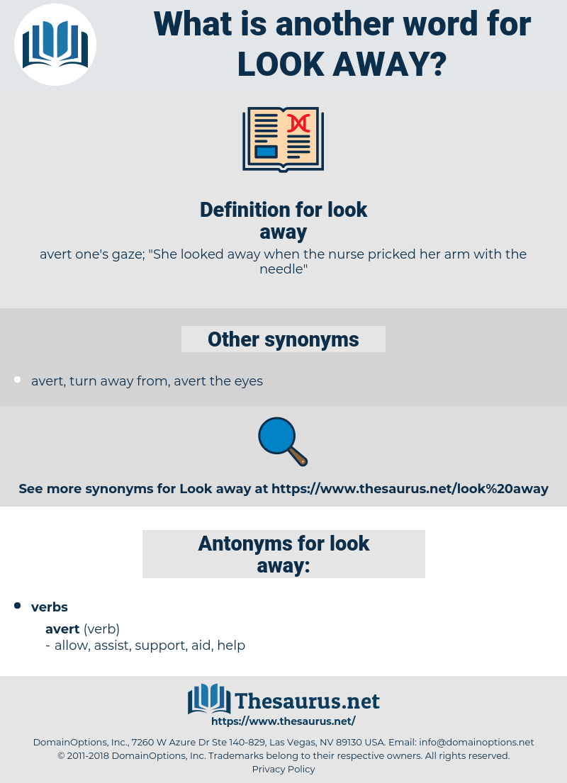 look away, synonym look away, another word for look away, words like look away, thesaurus look away