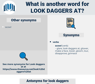 look daggers at, synonym look daggers at, another word for look daggers at, words like look daggers at, thesaurus look daggers at