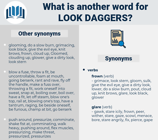 look daggers, synonym look daggers, another word for look daggers, words like look daggers, thesaurus look daggers