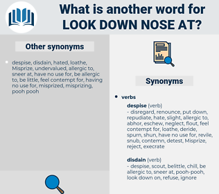 look down nose at, synonym look down nose at, another word for look down nose at, words like look down nose at, thesaurus look down nose at