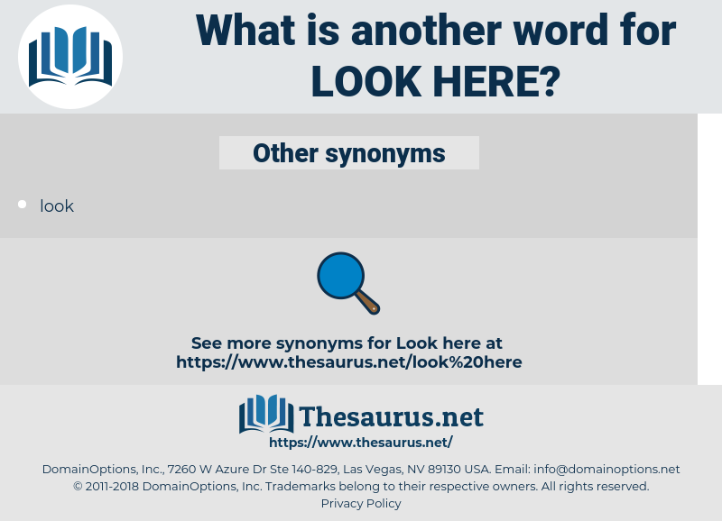 look here, synonym look here, another word for look here, words like look here, thesaurus look here