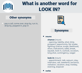 look-in, synonym look-in, another word for look-in, words like look-in, thesaurus look-in