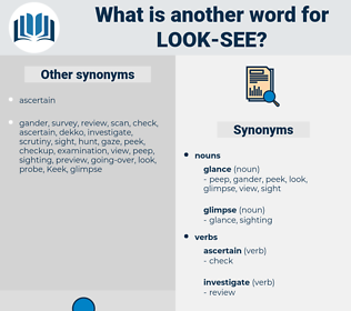 look see, synonym look see, another word for look see, words like look see, thesaurus look see