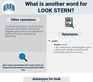 look stern, synonym look stern, another word for look stern, words like look stern, thesaurus look stern
