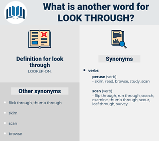look through, synonym look through, another word for look through, words like look through, thesaurus look through