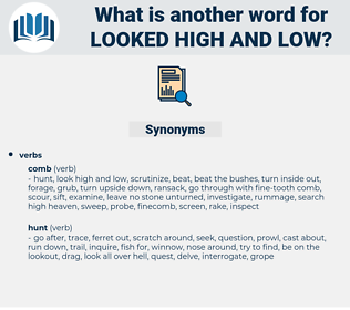 looked high and low, synonym looked high and low, another word for looked high and low, words like looked high and low, thesaurus looked high and low