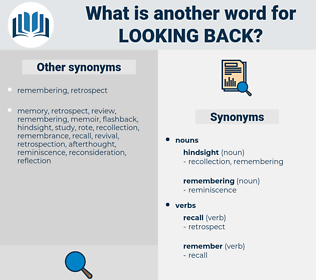 looking back, synonym looking back, another word for looking back, words like looking back, thesaurus looking back