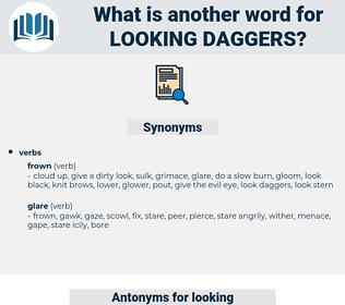 looking daggers, synonym looking daggers, another word for looking daggers, words like looking daggers, thesaurus looking daggers