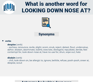 looking down nose at, synonym looking down nose at, another word for looking down nose at, words like looking down nose at, thesaurus looking down nose at