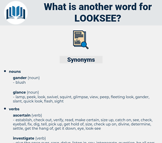 looksee, synonym looksee, another word for looksee, words like looksee, thesaurus looksee
