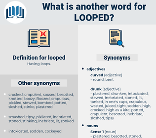 looped, synonym looped, another word for looped, words like looped, thesaurus looped