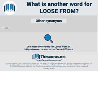 loose from, synonym loose from, another word for loose from, words like loose from, thesaurus loose from