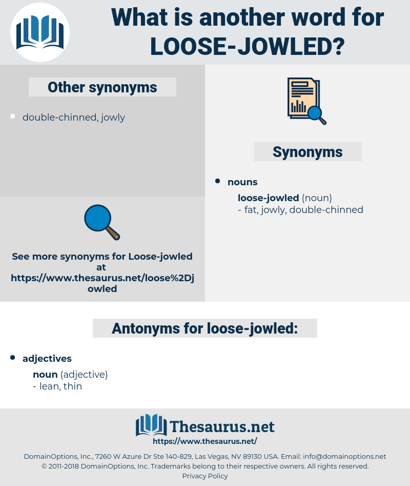 loose-jowled, synonym loose-jowled, another word for loose-jowled, words like loose-jowled, thesaurus loose-jowled