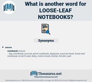 loose-leaf notebooks, synonym loose-leaf notebooks, another word for loose-leaf notebooks, words like loose-leaf notebooks, thesaurus loose-leaf notebooks