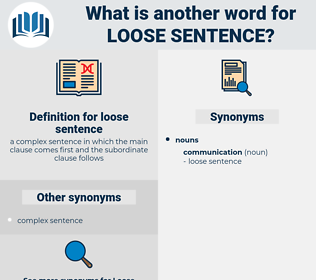 loose sentence, synonym loose sentence, another word for loose sentence, words like loose sentence, thesaurus loose sentence