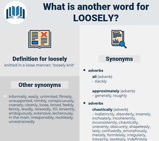 loosely, synonym loosely, another word for loosely, words like loosely, thesaurus loosely