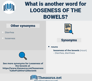 looseness of the bowels, synonym looseness of the bowels, another word for looseness of the bowels, words like looseness of the bowels, thesaurus looseness of the bowels