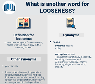 looseness, synonym looseness, another word for looseness, words like looseness, thesaurus looseness