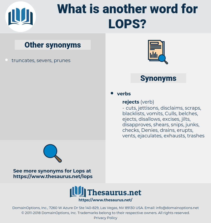 lops, synonym lops, another word for lops, words like lops, thesaurus lops