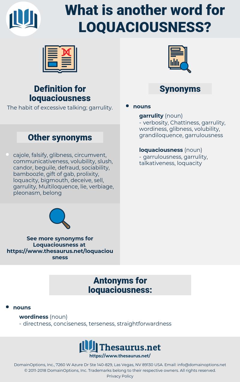 loquaciousness, synonym loquaciousness, another word for loquaciousness, words like loquaciousness, thesaurus loquaciousness