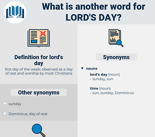 lord's day, synonym lord's day, another word for lord's day, words like lord's day, thesaurus lord's day