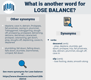 lose balance, synonym lose balance, another word for lose balance, words like lose balance, thesaurus lose balance