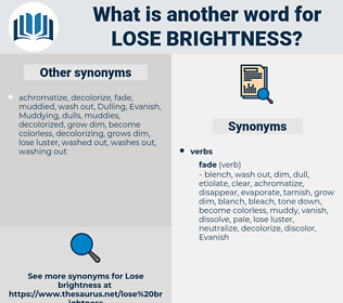 lose brightness, synonym lose brightness, another word for lose brightness, words like lose brightness, thesaurus lose brightness