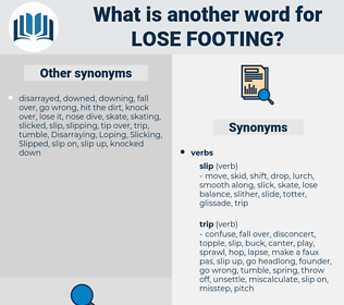 lose footing, synonym lose footing, another word for lose footing, words like lose footing, thesaurus lose footing