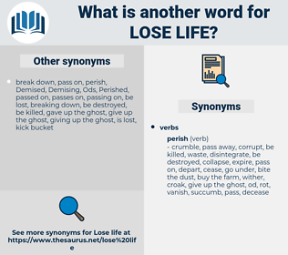lose life, synonym lose life, another word for lose life, words like lose life, thesaurus lose life