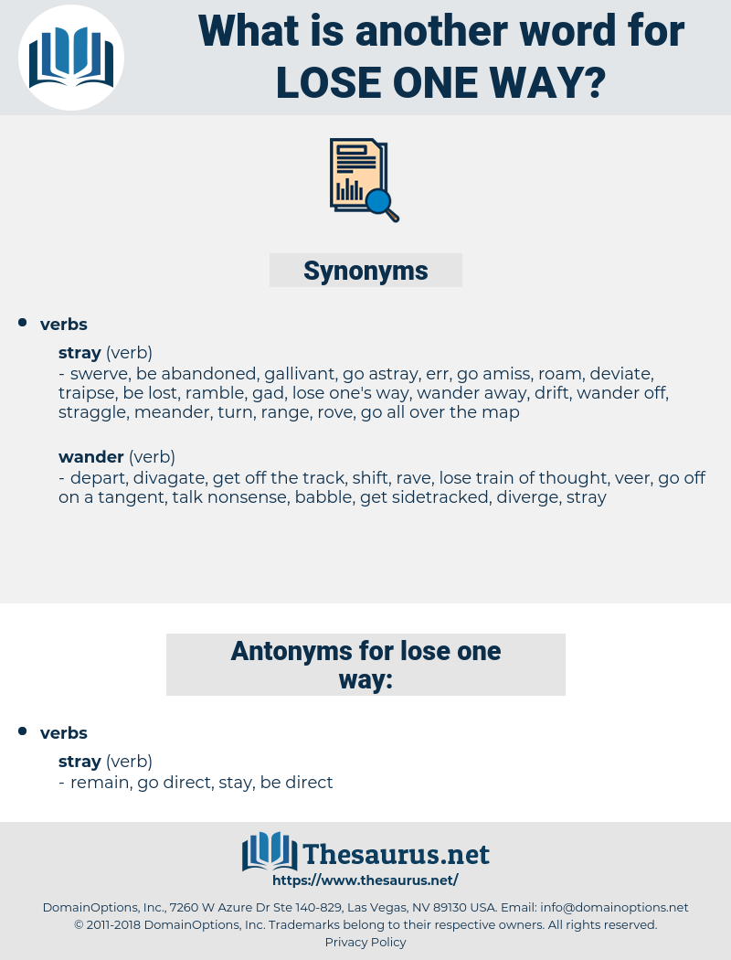 lose one way, synonym lose one way, another word for lose one way, words like lose one way, thesaurus lose one way