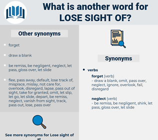 lose sight of, synonym lose sight of, another word for lose sight of, words like lose sight of, thesaurus lose sight of