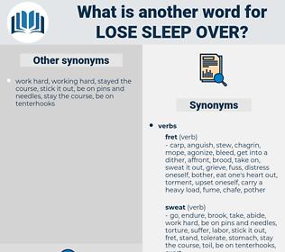 lose sleep over, synonym lose sleep over, another word for lose sleep over, words like lose sleep over, thesaurus lose sleep over